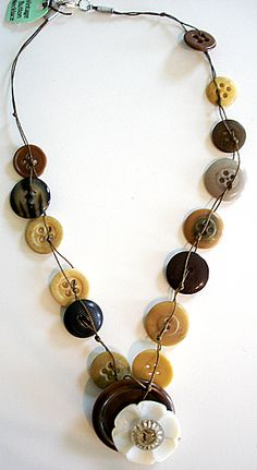 Button necklace~ This one is for sale but great inspiration if you want to make one like me!