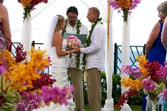 Pink Maui Resort wedding from Taylor'd Events Group   Venue: Sheraton Maui Resort; Photographer: Luna Bella Events; Floral: Blossoms Hawaii #mauiwedding #pinkwedding #orangewedding #Hawaiianwedding #destinationwedding #weddingplanner #destinationweddingplanner