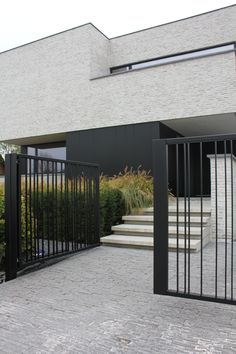 oktober 2018 – Project W & L Modern Brick House, Modern House Facades, Modern House Design, Contemporary Design, Fence Design, Facade House, Exterior Design, Building A House, Architecture Design