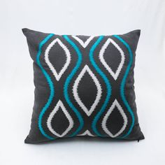 Ikat Decorative Pillow Cover Throw Pillow Cover by KainKain