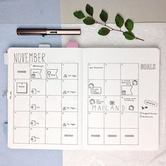 Can't believe that it's already time to set up a new monthly layout . Anyway I am really excited about November. For one weekend I am going to visit my hometown and on on other one I am going to visit one of my best friends in Milan. Can't wait for it . Do you have any special plans for November?  #bulletjournal#bujojunkies#bulletjournalcommunity#planner#plannercommunity#plannergirl#filofax#filofaxing#stationary#wearebujo#germanbujojunkies#plannerstamps#sweetstampshop#studiol2e#nuuna#note...