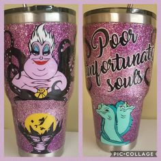 Tumbler cups ideas Vegan Coleslaw vegan coleslaw with vegan mayo Diy Tumblers, Custom Tumblers, Glitter Tumblers, Disney Tassen, Mermaid Cup, Tumblr Cup, Glitter Projects, Disney Cups, Cup Crafts