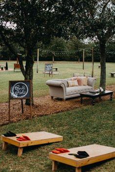 at Cross Creek Ranch all-inclusive wedding venue located in Dover, F Wedding Yard Games, Outdoor Wedding Games, Outdoor Weddings, Rustic Wedding Games, Camping Wedding, Wedding Reception Games, Outdoor Games, Home Wedding, Wedding Tips