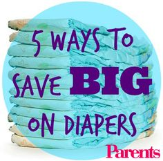 The average baby fills 7-10 diapers per day! Learn the top 5 ways to save $$ on diapers. #budget