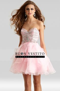 2015 Homecoming Abiti Sweetheart corsetto in rilievo breve / Mini Organza