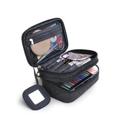 2016 Luxury Cosmetic Bag Big Professional Toiletry Bags Travel Makeup Case Beauty Necessaries Make up Storage Beautician Box - DIY Beauty Tutorials Ideen Makeup Travel Case, Travel Cosmetic Bags, Cosmetic Case, Travel Bags, Toiletry Storage, Toiletry Bag, Bag Storage, Cosmetic Storage, Storage Organizers