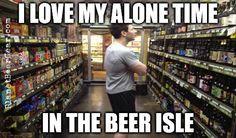 Ahhh! Alone at last! #Beer