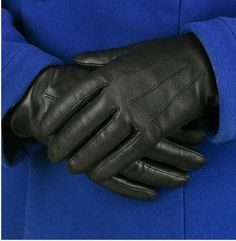 Cashmere lined, soft natural leather with stitching on the back of the hand, which provides an elegant fit and look. Priced at only £36.00