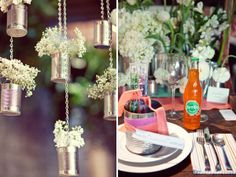 #DIY #Flowers #Tablesetting #Cans