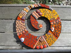 Koru - Spiral or Swirl made in orange colors