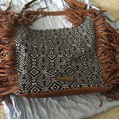 Madden girl fringe purse Worn once basically new super cute fringe bag Madden Girl Bags Hobos