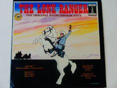 The Lone Ranger - Original Radio Broadcasts - Wonderland Records Radio Classics 1979 - Vintage Children's Vinyl LP Record Album
