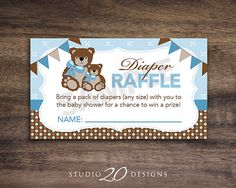 Instant Download Teddy Bear Theme Baby Shower by Studio20Designs