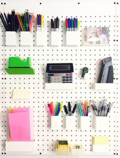 Pegboards to organise stuff