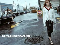 ALEXANDER WANG SS16 Photo by: Steven Klein Starring: @stellaluciadeopito, @ddiegovillarreal & @molllsbair Where: Outside the Sonomax Gas Station, Greenpoint, Brooklyn
