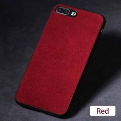 Luxury Suede Leather Iphone Cases - 06-Red / For iPhone 6S