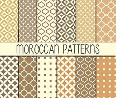 Moroccan tiles  Instant Download  Set of 12 by babushkadesign