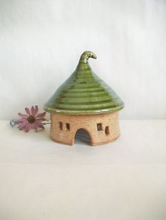 ToadHouse/ Fairy House/ Night Light No by SuzannesPotteryFarm, $30.00 ADORABLE!