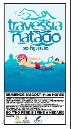 Este domingo, XXVIII edición de la Travesía Popular de Natación en la playa de ses Figueretes. Inicio a las 11.00 horas. Next Sunday, Travesía Popular de Natación (popular swimming race) at Ses Figueretes Beach (11 am).