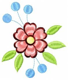 Flower free machine embroidery design. Machine embroidery design. www.embroideres.com