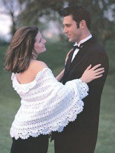 Simply White Shawl - free pattern - crochet - for when it get a little cool on wedding day