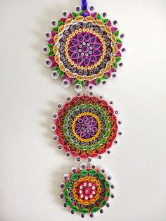 Purple themed Floral Paper Quilled Wall by IvyArtWorks on Etsy