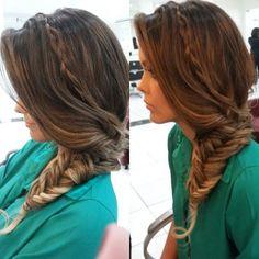"""@mulher_cheirosa's photo: """"Super produção da nossa profissional @vandinhamc na blogueira @cris_moreira. Estamos apaixonadas pelo resultado! #MCdesejo #blogger #beauty #hair #braids #welove"""""""