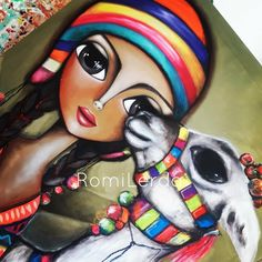 Nueva obra para cerrar esta semana de emociones. Primera obra de esta serie que se viene con todo el color. 💗💚🧡💜💛 #soyRomiLerda #norteargentino #coya #llama #womanart #Argentina #italia #españa #colombia #mexico #miami #brasil #chile #uruguay #arte #art #galeriadearte #galleryart #love #occhi #eyes #ojos #woman #obrasdearte #arteargentina #canvas #artstudio #artwork #painting #unesco Painting People, Painting For Kids, Llama Arts, Cubism Art, Plant Art, Egyptian Art, Learn To Paint, Art Sketchbook, Face Art