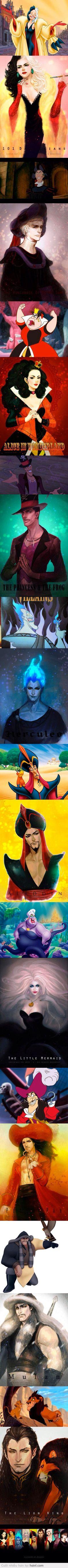 Villian Characters - Disney - Anime