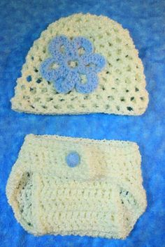 Newborn hat and diaper cover by JackintheBoxCrochet on Etsy, $30.00
