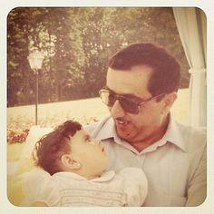 Lateefa MRM y su padre Maktoum RSM, 1980 Vía: Lateefa MRM