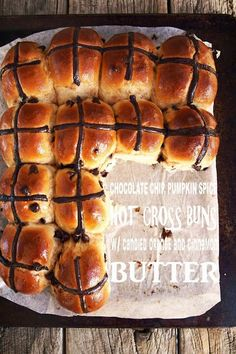 Milk and Honey: Chocolate Chip Pumpkin Pie Spice Hot Cross Buns