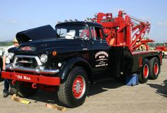 """The Old Man"" 1955 gmc tow truck"