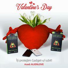 De ❤️ #Valentine's Day💞 nu uita să folosești codul de reducere ✅ALIENLOVE✅, valabil inclusiv mâine.  Noi îți oferim un cod de reducere, tu îi dăruiești atenția ta și folia 👽#AlienSurface™.🤗🛍  🤝www.aliensurface.ro