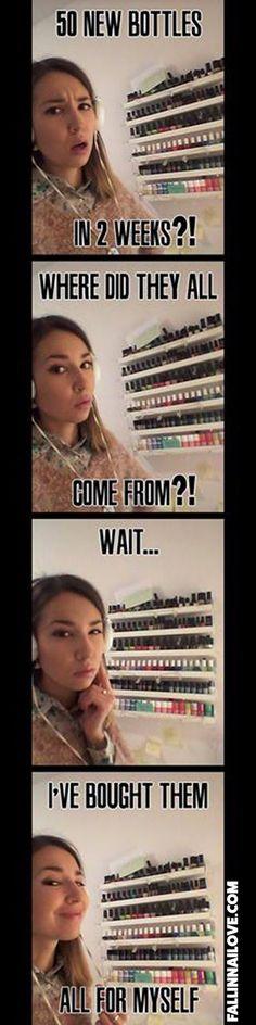 Nail polish memes.