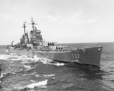 Baltimore class 8 in heavy cruiser USS Macon: she was commissioned barely a week before the formal Japanese surrender on 2 September 1945, and had to wait for the Korean War before seeing active service, having been in reserve previously. Finally decommissioned in 1961, she was scrapped in 1973.