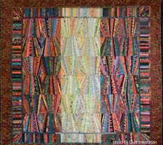 Firewall by Carol Caplan, quilted by Cathy McLees
