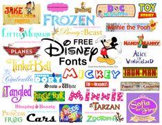 Disney Fonts Disney Font Free, Disney Diy, Disney Crafts, Disney Fonts, Disney Pixar, Disney Shirts, Disney Ideas, Disney Trips, Fuentes Disney