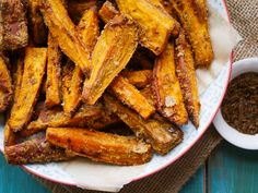 Incredibly tasty cumin and coconut sweet potato wedges, toasted in cumin seed and coconut flour. Healthy, delicious, easy, vegan and gluten free!