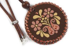 Handpainted  Wooden Medal With Hungarian Motive by mintapalinta, $27.00