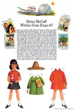 What an excellent combination - Expo 67 and Betsy McCall.