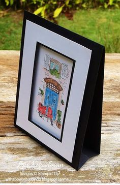 Mediterranean Moments and watercolour pencils from Stampin' Up! With a bow on top