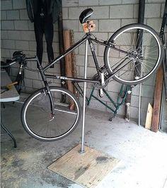DIY Bicycle Repair Stand By Andrew Li | Bike Commuters #bikerepairstand  #bikerepairdiy #bicyclerepair