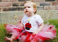 Ladybug birthday outfit!