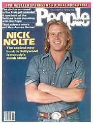 """Nick Nolte, """"The sexiest new hunk in Hollywood,"""" People Magazine, Oct. People Magazine, My Magazine, Movie Magazine, Magazine Covers, Hello Magazine, Old Magazines, Vintage Magazines, Old Movies, Famous Faces"""