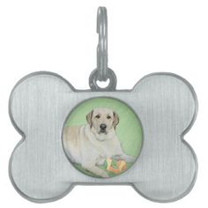 #Labrador Retriever (Yellow) Pet ID Tag - #pettag #pettags #dogtag #dogtags #puppy #dog #dogs #pet #pets #cute #doggie