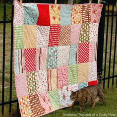 My First Quilt! (plus lessons learned...) | Scattered Thoughts of a Crafty Mom