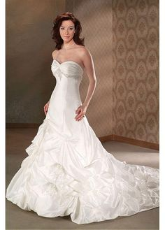 SEXY LADY LACE BRIDESMAID PARTY BALL GOWN FORMAL PROM BRIDAL CUSTOM SIZE A-LINE SWEETHEART TAFFETA WEDDING DRESS