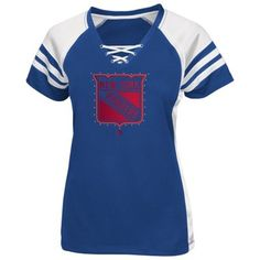 New York Rangers Lace-Up Tee