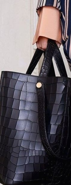 Mulberry Croc-Effect Large Leather Tote With Shoulder-Strap